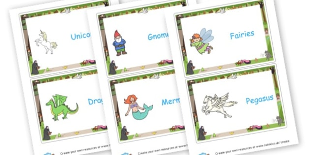 Fantasy Group Signs - Fantasy Group Signs Primary Resources,  Group Sign, Classroom