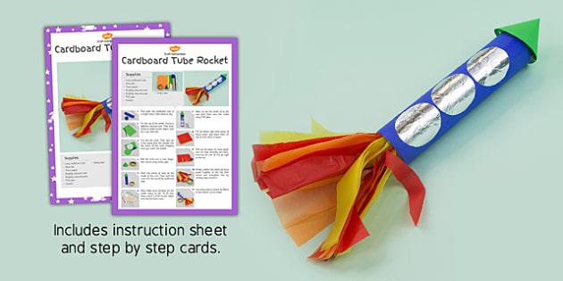 Cardboard Tube Rocket Craft Instructions - rockets, activity