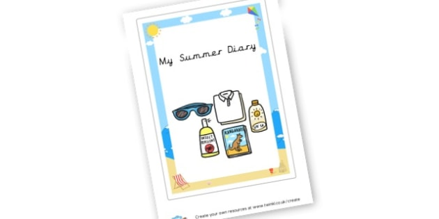 Summer Diary Cover - Summer Activities Primary Resources,Primary,Summer,Activities