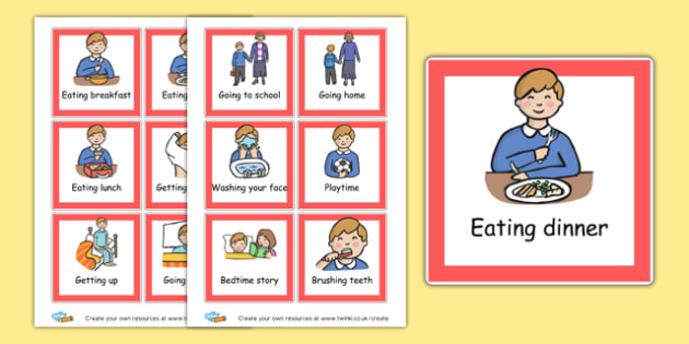 Daily Routine Sorting Activity - Daily Routine Primary Resources, visual timetable, class, rules