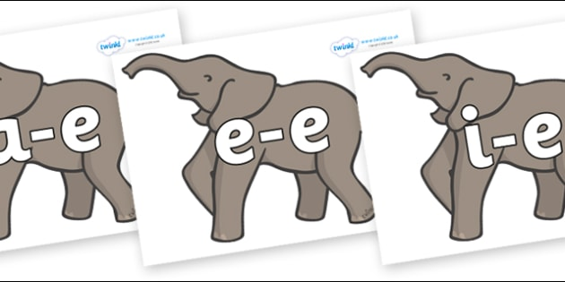 Modifying E Letters on Elephants - Modifying E, letters, modify, Phase 5, Phase five, alternative spellings for phonemes, DfES letters and Sounds