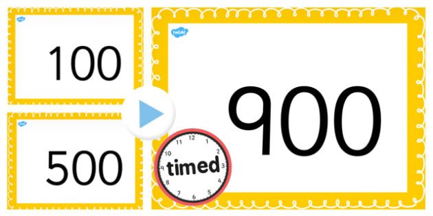 Counting On and Back in 100s up to 1000 PowerPoint - counting