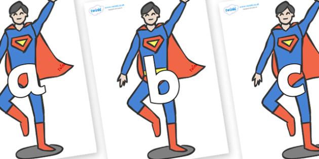 Phoneme Set on Superheroes (Plain) - Phoneme set, phonemes, phoneme, Letters and Sounds, DfES, display, Phase 1, Phase 2, Phase 3, Phase 5, Foundation, Literacy