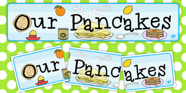 Our Pancakes Display Banner - pancakes, display, banner, our