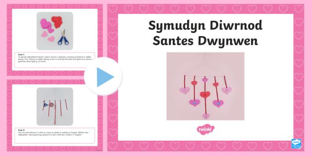 Pŵerbwynt Cyfarwyddiadau Creu Symudyn Diwrnod Santes Dwynwen
