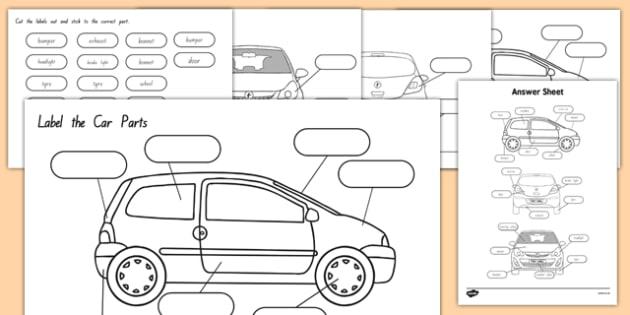 Label the Car Parts NZ - nz, new zealand, car, cars, parts of the car, label, labelling, parts, bits, window, door, bumper
