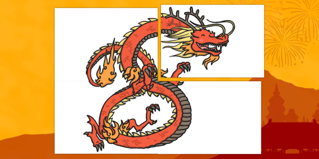Chinese Dragon Large Display Cut Out - chinese, dragon, Australia