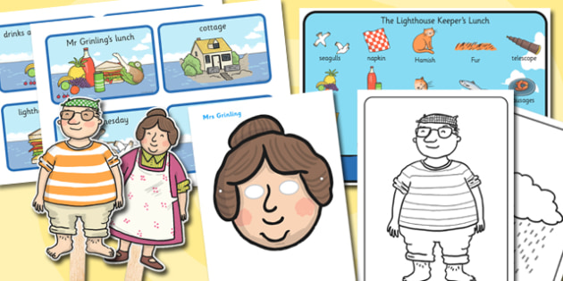 Story Sack Resource Pack to Support Teaching on The Lighthouse Keepers Lunch - story sack, story books, story book sack, stories, story telling, childrens story books, traditional tales