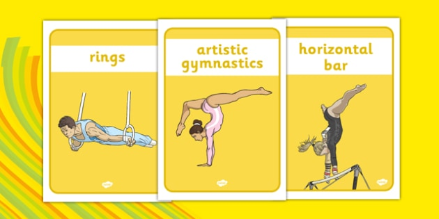 The Olympics Artistic Gymnastics Display Posters - Gymnastics, Olympics, Olympic Games, sports, Olympic, London, 2012, display, banner, poster, sign, activity, Olympic torch, events, flag, countries, medal, Olympic Rings, mascots, flame, compete