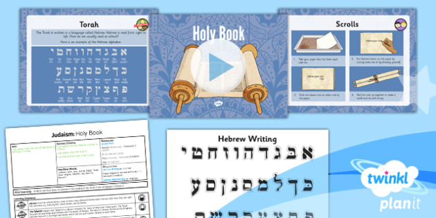 PlanIt - RE Year 3 - Judaism Lesson 5: Holy Book Lesson Pack - jew, jewish, TaNaCH, yad, Rabbi