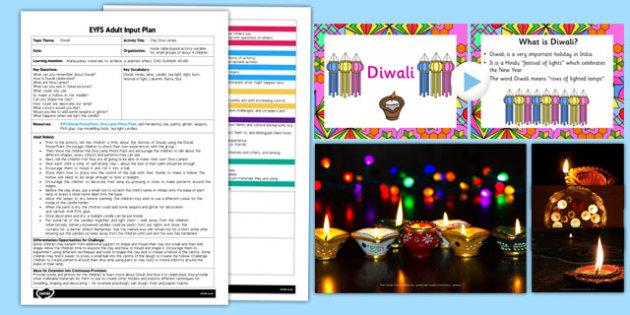 Clay Diva Lamps EYFS Adult Input Plan and Resource Pack - diwali, hindu, sita