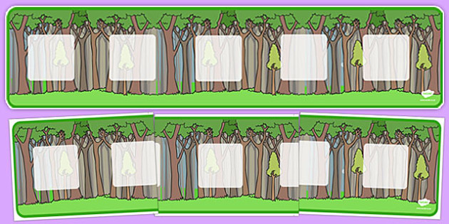 Tree Themed Visual Timetable Display Banner - plant, tree, header