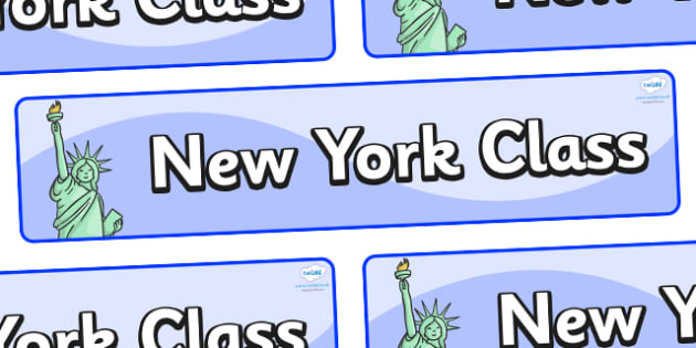New York Themed Classroom Display Banner - Themed banner, banner, display banner, Classroom labels, Area labels, Poster, Display, Areas