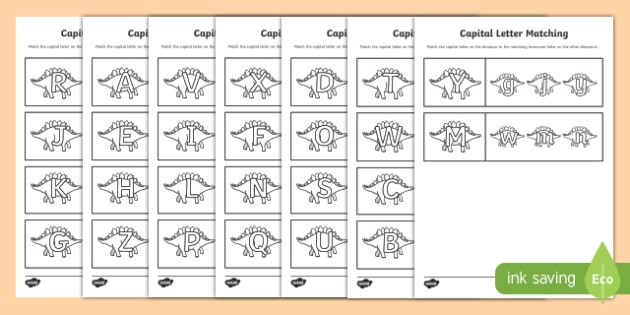 Free Worksheets » Letter Matching Worksheets - Free Printable ...