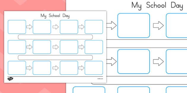 Individuals Visual Timetable Template - australia, SEN, independent, routine, schedule, school
