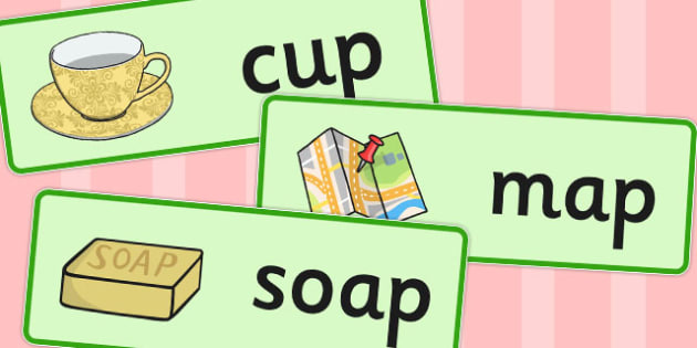 Final 'P' Sound Word Cards - words, sounds, visual aids, visuals
