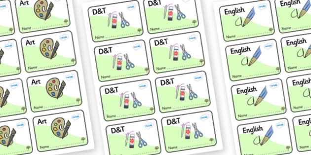 Elm Tree Themed Editable Book Labels - Themed Book label, label, subject labels, exercise book, workbook labels, textbook labels