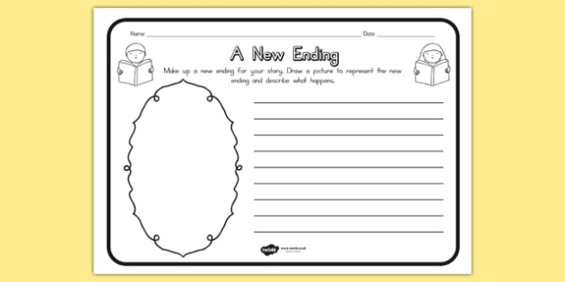 A New Ending Comprehension Worksheet - australia, ending, sheet