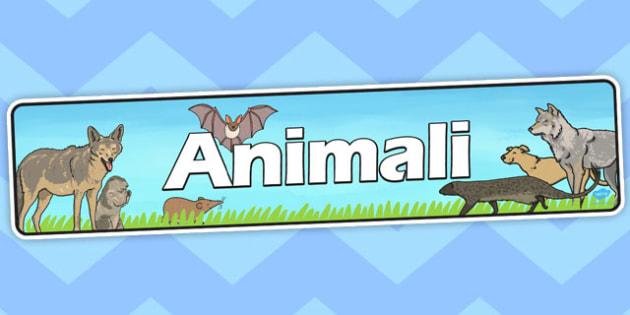 Italian Animals Display Banner - banners, displays, animal, poster