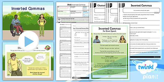 PlanIt Y3 SPaG Lesson Pack: Inverted Commas  - planit, spag, lesson, pack, english, year 3