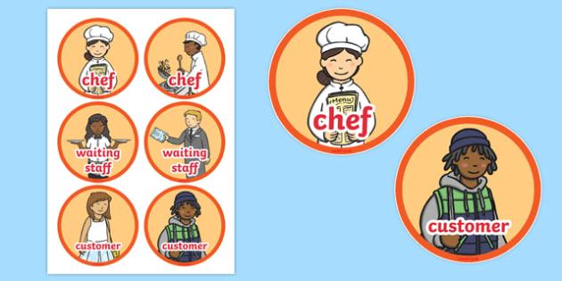 Pizza Parlour Role Play Badges