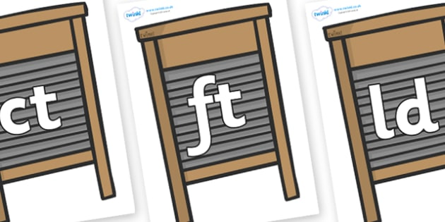Final Letter Blends on Washing Boards - Final Letters, final letter, letter blend, letter blends, consonant, consonants, digraph, trigraph, literacy, alphabet, letters, foundation stage literacy