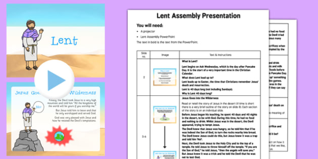 Lent Assembly Pack - Lent, Ash Wednesday, Assembly, pack, assembly pack
