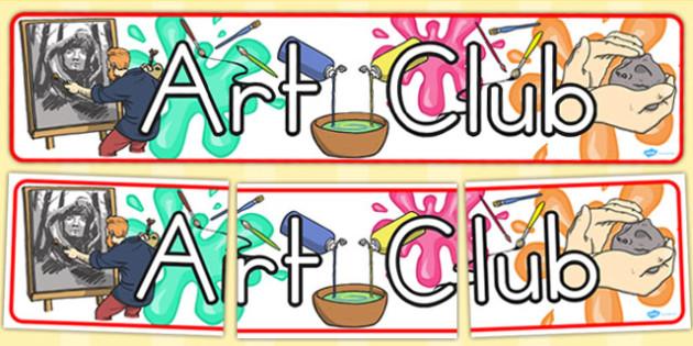 Art Club Display Banner (Australia) - banners, displays, visuals