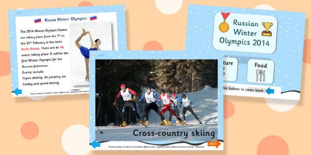 Russian Winter Olympics 2014 Information PowerPoint - russain winter olympics, winter olympics, 2014 olympics, olympics powerpoint, powerpoint
