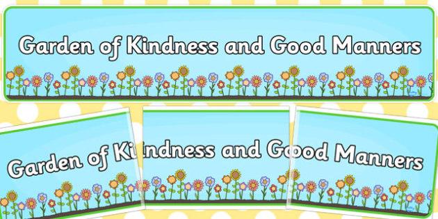 Flower Banner Garden of Kindness - flower, banner, garden, kind