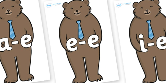 Modifying E Letters on Daddy Bear - Modifying E, letters, modify, Phase 5, Phase five, alternative spellings for phonemes, DfES letters and Sounds