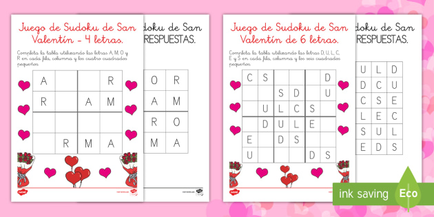 Valentine's Day Letter Sudoku - San Valentín, amor, juego, sudoku, St Valentine, Valentine's Day, love, game, sudoku, puzzle, letr - San Valentín, amor, juego, sudoku, St Valentine, Valentine's Day, love, game, sudoku, puzzle, letr