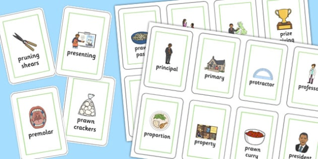 Three Syllable PR Playing Cards - speech sounds, phonology, articulation, speech therapy, cluster reduction, clusters, blends