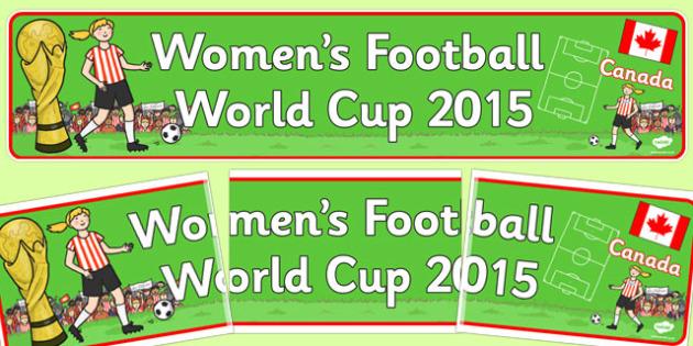 Womens Football World Cup 2015 Display Banner - display banner