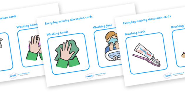 Everyday Activity Task Discussion Cards - task, classroom, cards, flashcards, activity cards, classroom cards, card, everyday activity, activities