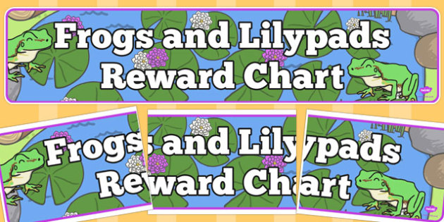 Frogs and Lilypads Reward Chart Display Banner - frogs, lilypads, reward