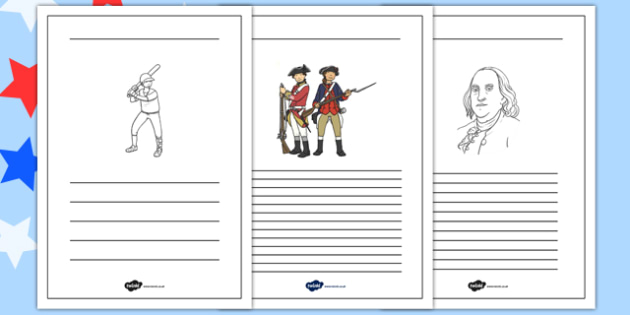 Independence Day Writing Frames - independence day, writing