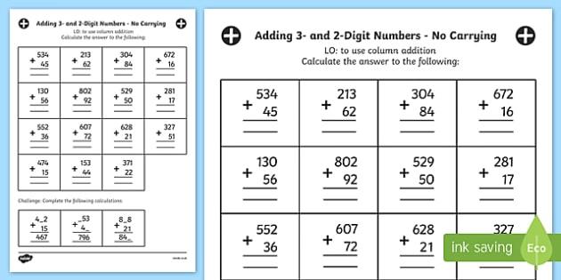 Number Names Worksheets : adding three digit numbers worksheet ...