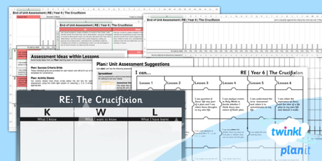 PlanIt - RE Year 6 - Free Will and Determinism-The Crucifixion Unit Assessment Pack - planit, re, religious education, year 6, free will and determinism-the crucifixion, assessment pack