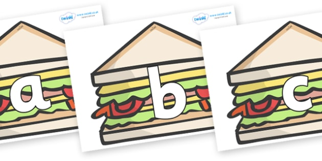 Phoneme Set on Sandwiches to Support Teaching on The Lighthouse Keeper's Lunch - Phoneme set, phonemes, phoneme, Letters and Sounds, DfES, display, Phase 1, Phase 2, Phase 3, Phase 5, Foundation, Literacy