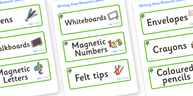 Sycamore Themed Editable Writing Area Resource Labels - Themed writing resource labels, literacy area labels, writing area resources, Label template, Resource Label, Name Labels, Editable Labels, Drawer Labels, KS1 Labels, Foundation Labels, Foundati