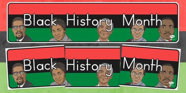 Black History Month Display Banner - usa, black history, history, history month