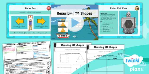 PlanIt Y3 Properties of Shape Lesson Pack Shapes (1) - PlanIt, Properties of Shapes, 2D shapes, geometry