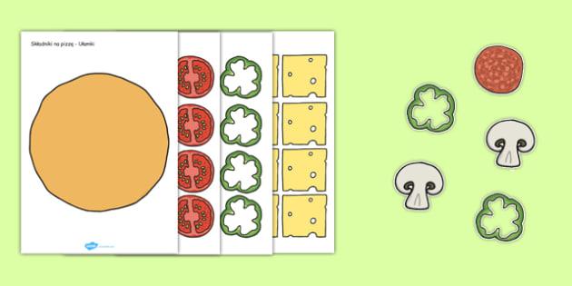 Składniki na pizzę Ułamki po polsku - matematyka