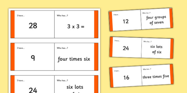 Loop Cards 3 and 4 Times Tables - Loop cards, cards, 6, 8, times, table, multiple, multiples, multiplication, Maths, numbers, numeracy, KS2, times table, times tables