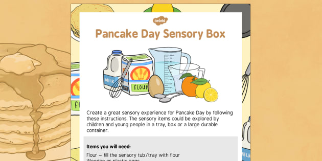 Pancake Day Sensory Box - pancake day, sensory box, sensory, box, shrove tuesday