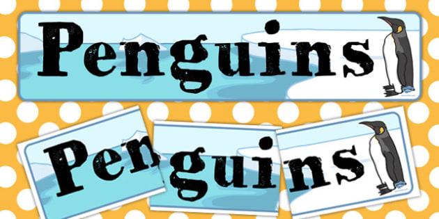 Penguin Display Banner - penguin, display, banner, display banner