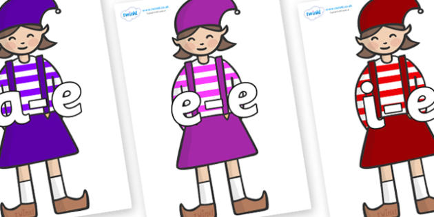 Modifying E Letters on Elf (Girl) - Modifying E, letters, modify, Phase 5, Phase five, alternative spellings for phonemes, DfES letters and Sounds