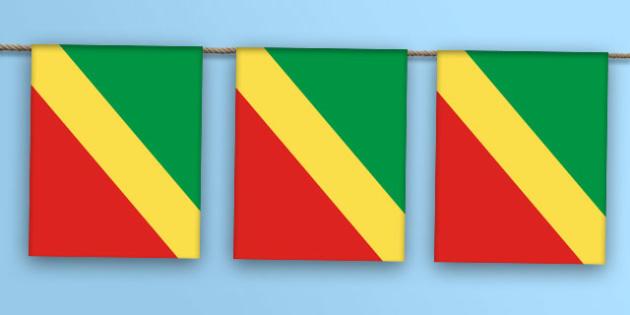 Congo Flag Bunting - congo flag, congo, flag, bunting, display bunting, display