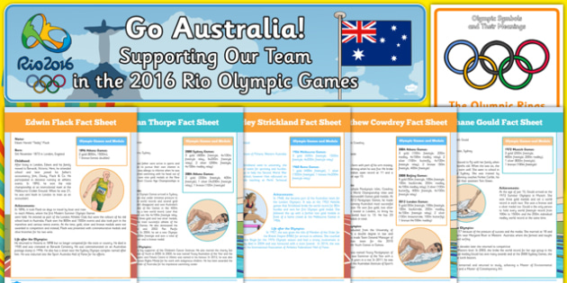 Top 10 Australian Rio Olympics Resource Pack